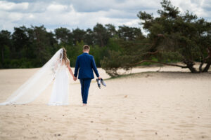Bruidspaar in nationaal park